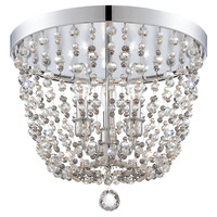 Channing 3-Light Flush Mount, ChromeCRYSTORAMA