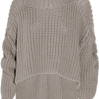 Alexander Wang Cropped cotton-blend sweater – 62% at THE OUTNET.COM
