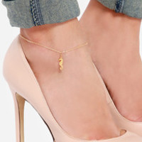 Seahorse of Course Gold Seahorse Anklet