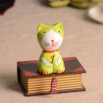 Decoration Cats Lovely Creative Cute Wooden = 5893251201