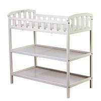 White Baby Diaper Changing Table with 1-inch Thick Changing Pad