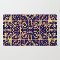 Tribal Ornate Pattern Rug by DFLC Prints