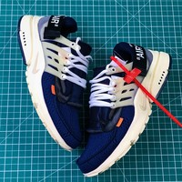 Off White X Nike Air Presto Blue Sport Running Shoes - Best Online Sale