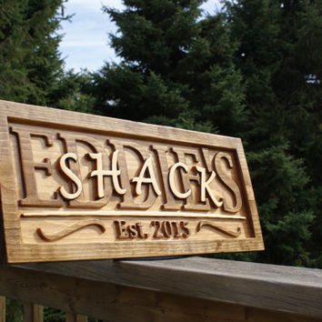 Personalized Man Cave Sign Wooden Carved First Name Shed Fathers Day Birthday Retirement Garage Basement Gift Engraved Plaque