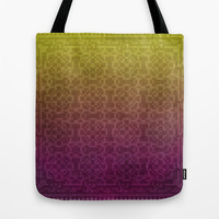 Pixel Patterns Yellow/Magenta Tote Bag by Likelikes