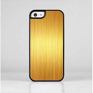 The Bright Brushed Gold Surface Skin-Sert for the Apple iPhone 5c Skin-Sert Case