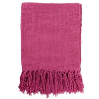 Belize Fringe Fuchsia Pink Throw Blanket