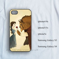 iPhone Case,Beauty and the Beast iPhone 4/4s Case, iPhone 5/5s case,iPhone 5c case,samsung galaxy s3/s4, iPhone case