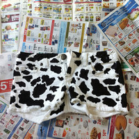 Cow Print Cut-Off Shorts