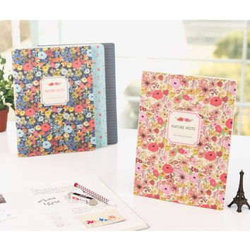 Ardium Nature colorful flower pattern lined notebook large