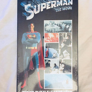 Rare Vintage NIB 1978 Superman Jigsaw Puzzle DC Comics, SEALED, Antique Alchemy