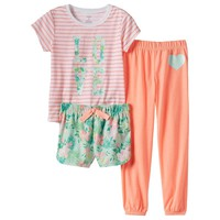 Carter's ''Love'' Tropical Glitter Pajama Set
