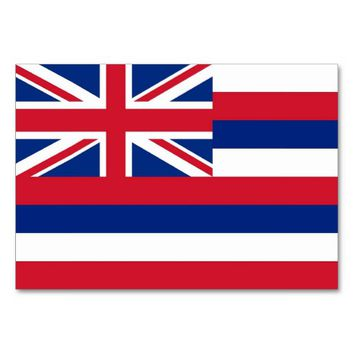Patriotic table card with Flag of Hawaii