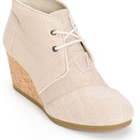 Toms Whisper Burlap Desert Wedge Shoes