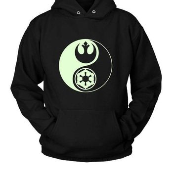ICIK7H3 Star Wars Yin Yang Hoodie Two Sided