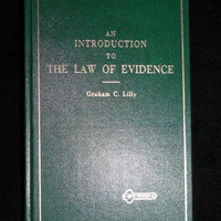 An Introduction to the Law of Evidence by Graham C. Lilly (1978, Hardcover)