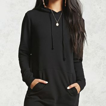 Raw-Cut French Terry Mini Dress
