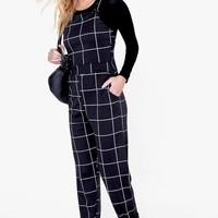 Sally Checked Pinafore Style Dungaree