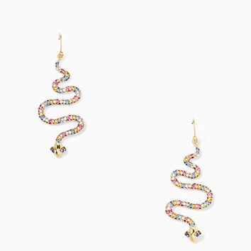 spice things up snake drop earrings