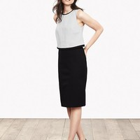 Banana Republic Womens Sloan Fit Layered Sheath