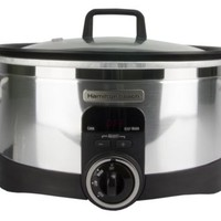New Hamilton Beach 33567T 6 Qt Programmable Stovetop Oval Slow Cooker