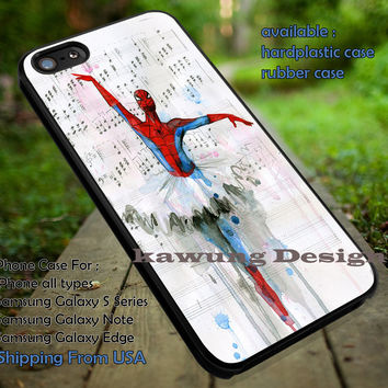 Spider Man Ballet iPhone 6s 6 6s+ 5c 5s Cases Samsung Galaxy s5 s6 Edge+ NOTE 5 4 3 #movie #disney #animated #marvel #comic #spiderman dt