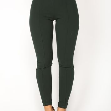 Victoria High Waisted Leggings - Hunter Green