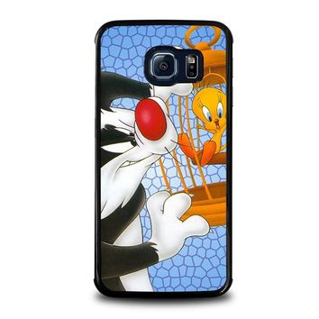 SYLVESTER AND TWEETY Looney Tunes Samsung Galaxy S6 Edge Case Cover