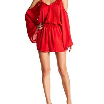 Shahida Parides Mona Lisa Romper in Fiery Red