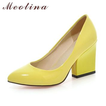 Women Wedding Shoes Thick High Heels Fashion Party Pumps