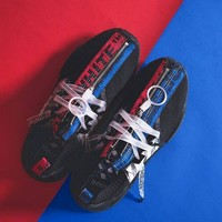 "OFF-WHITE x adidas Originals NMD R1 Running Shoes""Black Red Blue""BA8860"