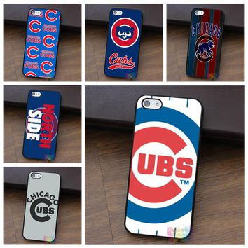 chicago cubs 4 fashion cell phone case for iphone 4 4s 5 5s 5c SE 6 6s 6 plus 6s plus 7 7