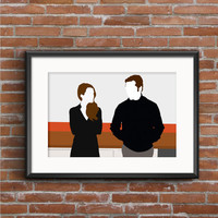 The Americans Poster - Elizabeth & Phillip Jennings Poster - The Americans Print - Cold War Poster - Spy Poster - TV Poster - Geek Gift