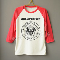 1D Shirt 1D T-Shirt Pop Rock Shirt One Direction Shirt Raglan Baseball Shirt Unisex Shirt Women Shirt Men Shirt Jersey Tee Long Sleeve Shirt