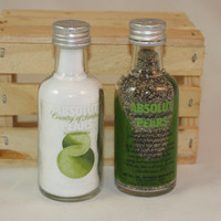 Absolut Pears Salt & Pepper Shakers, Upcycled Liquor Bottles