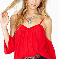 Red Strappy Open Back Cami