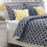 Navy Metro Bedding Set - Full/Double ONLY