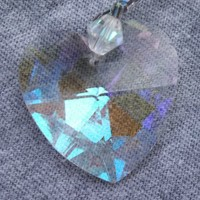 Crystal Heart Charm for your car