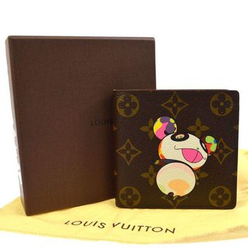 Gotopfashion AUTHENTIC LOUIS VUITTON MONOGRAM PANDA TAKASHI MURAKAMI WALLET M61666 TG01713