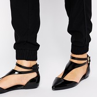 ASOS LIGHT SHOW Cut Out Flat Shoes