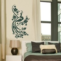 Best Quality Vinyl Wall Sticker Decals - Peacock ( Size: 16in x 30in - Color: turquoise ) - No: 101