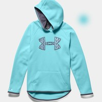 Under Armour Big Logo Hoodie for Girls in Veneer 1259839-440