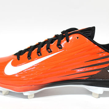 Nike Men's Lunar Vapor Pro Low Orange/White Baseball Cleats 683895 810