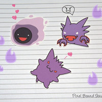 Gastly/Haunter/Gengar Stickers and Magnets