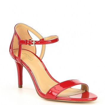 MICHAEL Michael Kors Simone Patent Leather Sandals | Dillards