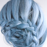 HAIR CHALK: Light Periwinkle // Temporary Hair Color // Chalk Pastel Dye