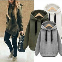 Fashion thick hooded zipper sweater
