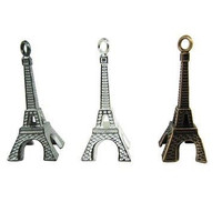 "12 (1 Dozen) 1.5"" Metal Eiffel Tower Keychain Party Favors Paris Theme"
