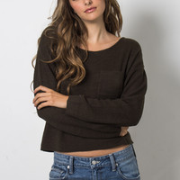 Gab & Kate Crossover Sweater - Hunter