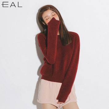Korean Women's Fashion Knit Stylish Tops [9022792199]